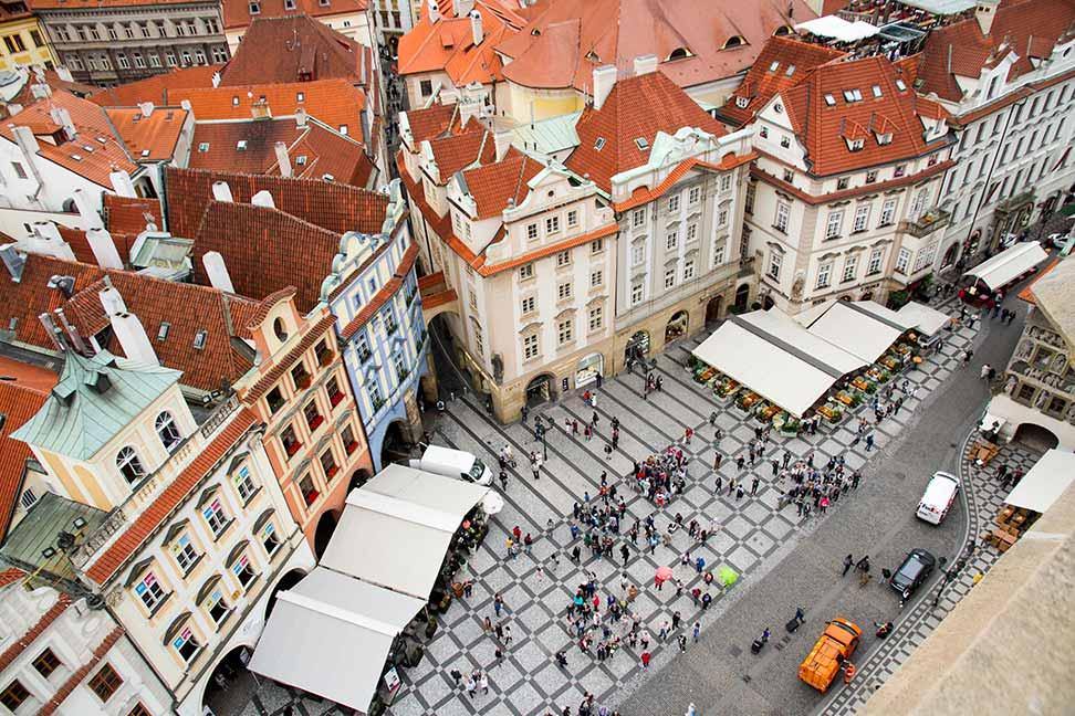 Vistas Praga Torre Ayuntamiento