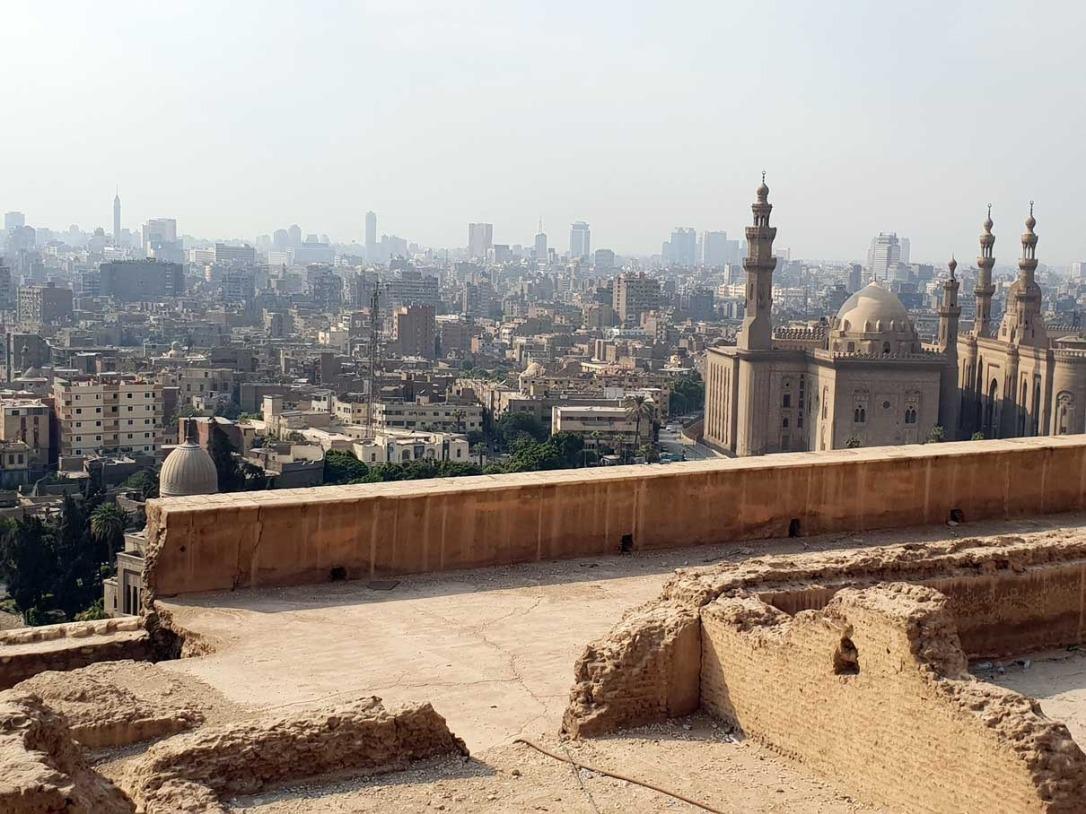 Vistas de la Ciudad El Cairo en Egipto