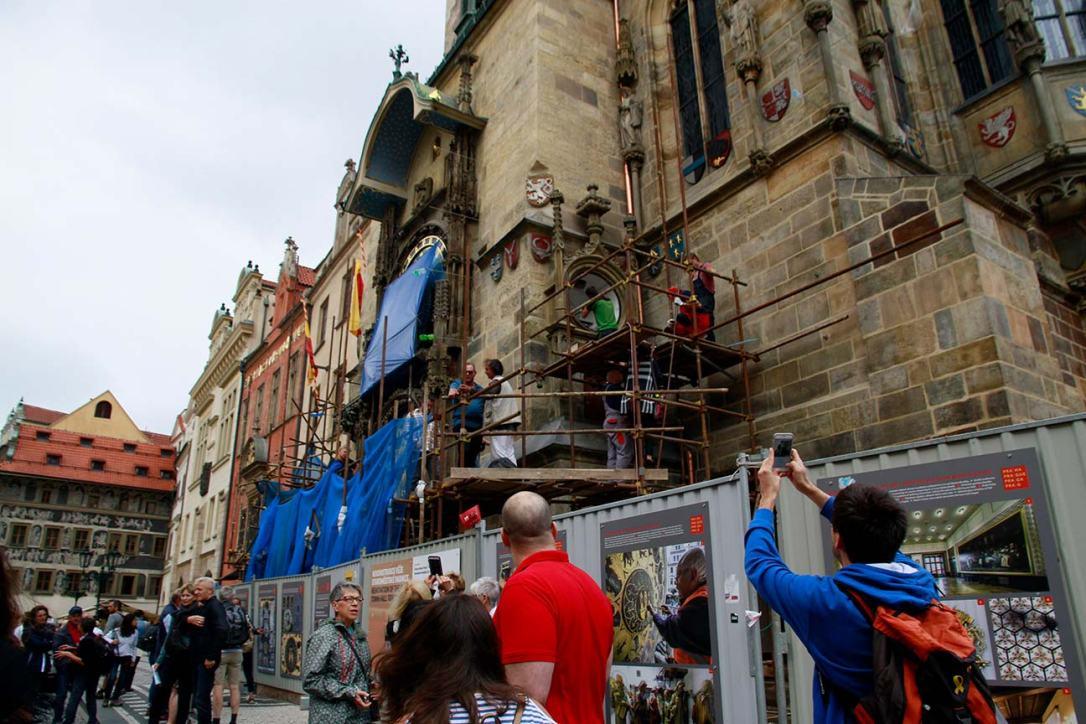 Restauración reloj astronomico Praga
