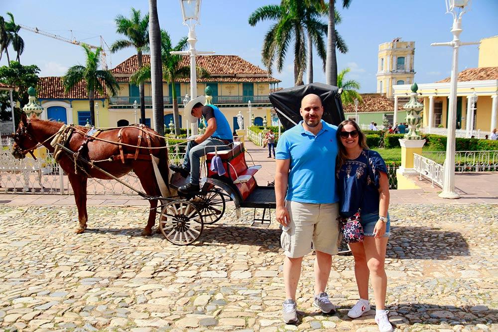 Plaza Mayor en Trinidad Cuba