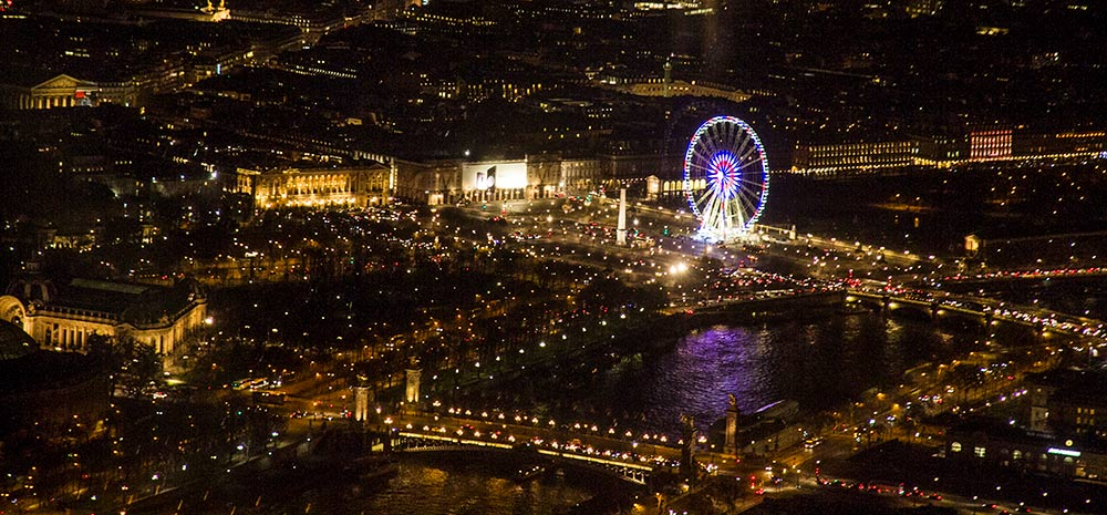 Vistas de Paris iluminado