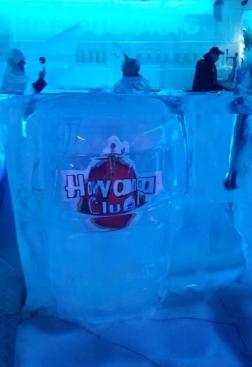 Interior del bar de hielo de Praga
