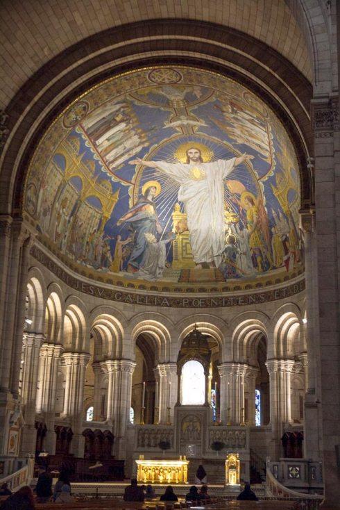 Interior del Sagrado Corazón.