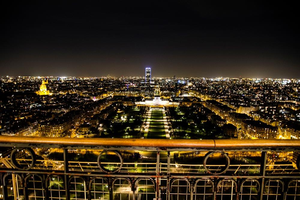 luces de Paris desde la torre eiffel