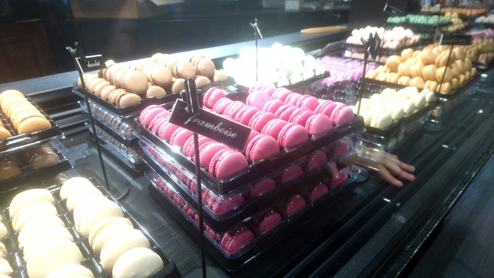 macarons en el barrio de Montmartre