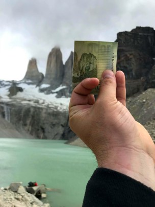 billete-de-mil-chileno-torres-del-paine