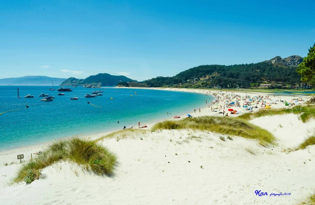 Paisaje de la Playa de Rodas en Islas Cíes