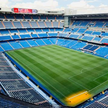 Estadio Santiago Bernabéu de Madrid.